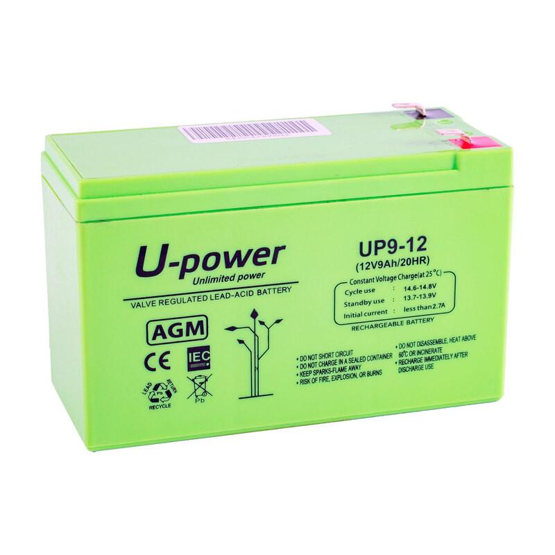 Batería U-Power AGM 12V 9Ah