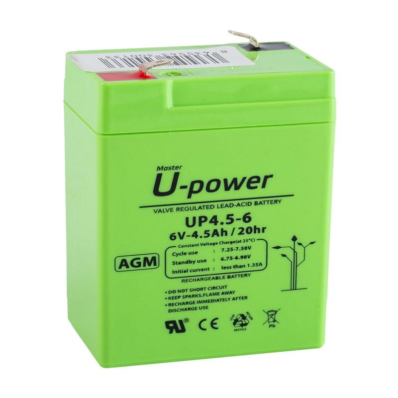Batería U-Power AGM 6V 4.5Ah