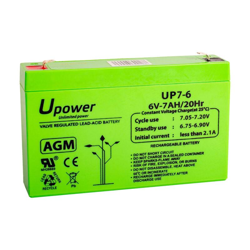 Batería U-Power AGM 6V 7Ah
