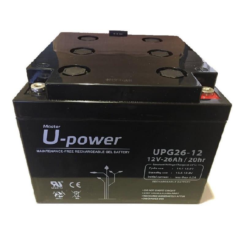Batería Plomo GEL U-Power 12V 26Ah