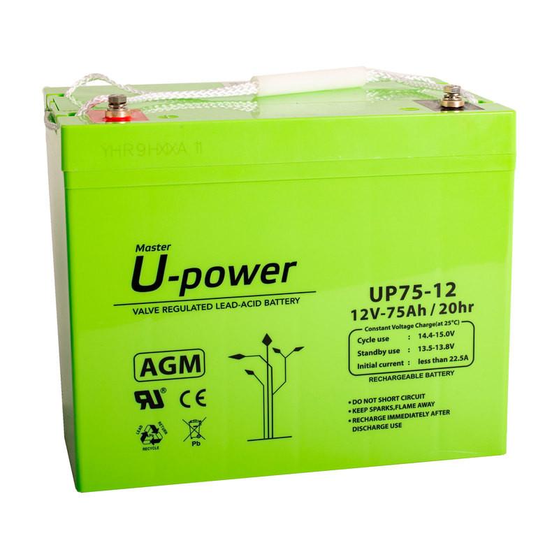 Batería U-Power AGM 12V 75Ah
