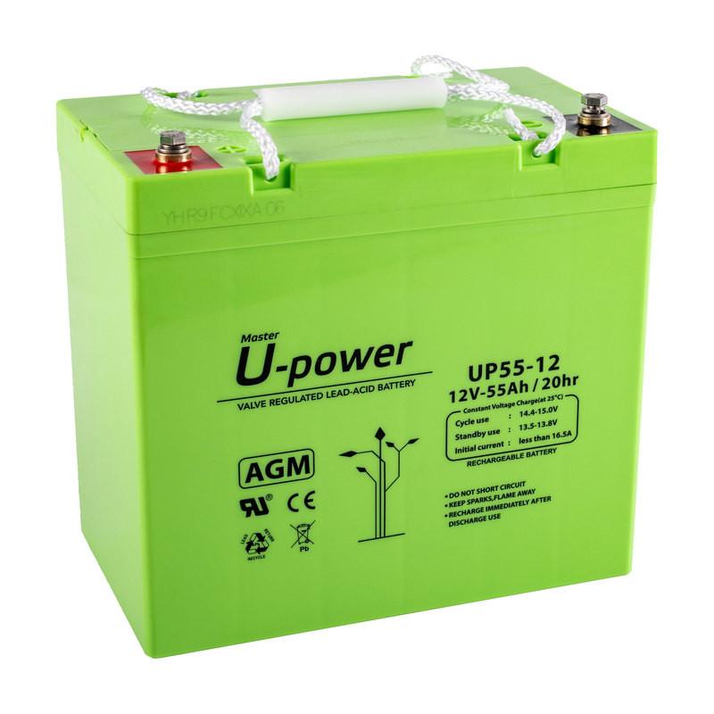 Batería U-Power AGM 12V 55Ah