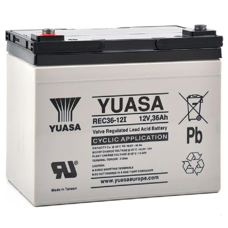 Baterías de plomo AGM YUASA REC36-12i 12V 36Ah