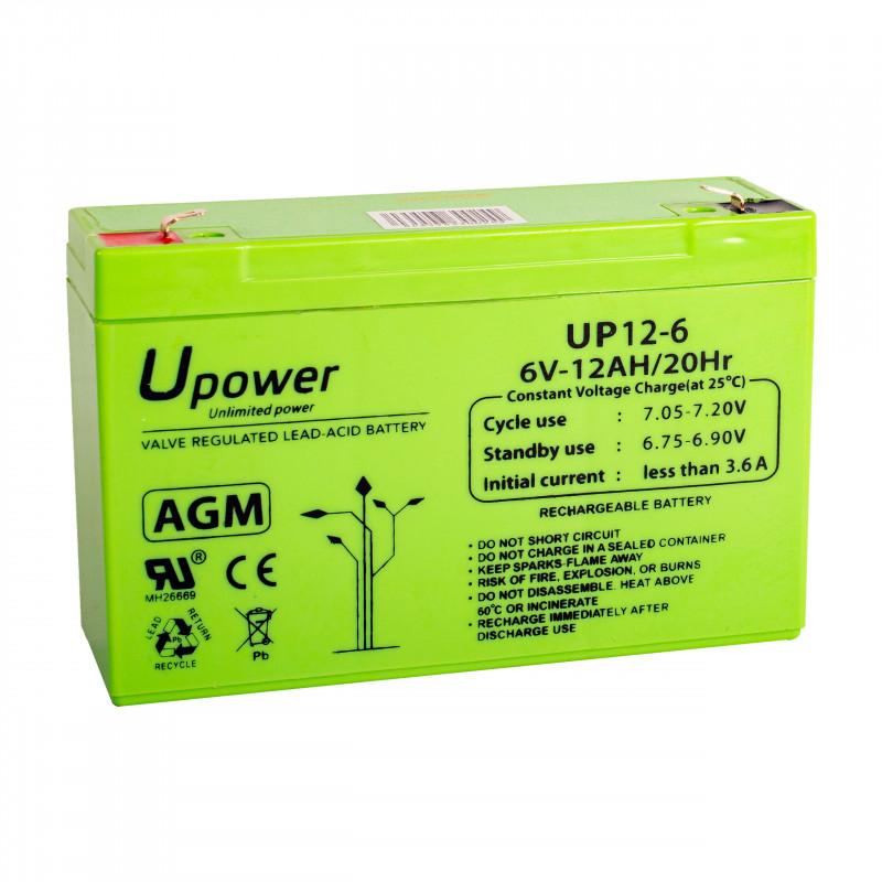 Batería U-Power AGM 6V 12Ah