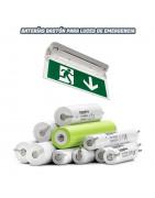 Baterías para Luces de emergencia